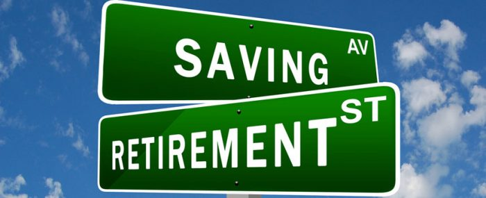 savings and retirement signs